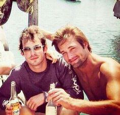 ian somerhalder and josh holloway - lost costars