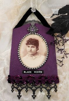 View Blog Post | Spellbinders - Mixed Media Monday: Halloween Cabinet Card
