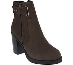 Sole Society Nubuck Ankle Boots - Jessy