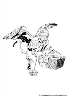 The Wizard of Oz: Winged Monkey coloring page