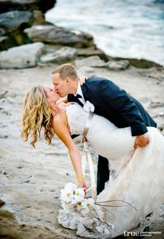 An Intimate Beach Wedding with Hair by Revive Salon & Spa