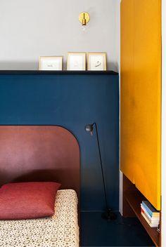 Décor do dia: quarto minimalista e colorido (Foto: reprodução)