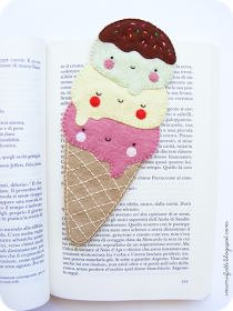 i ManuFatti: I ❤ ice cream bookmark (in Italian and English)