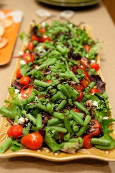 Green Bean Salad: http://www.foodnetwork.com/recipes/patrick-and-gina-neely/green-bean-salad-recipe/index.html