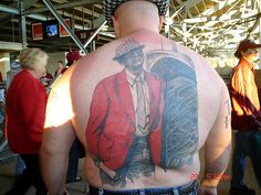 Cra cra Alabama football fan.... probably an uncle...  ;-)