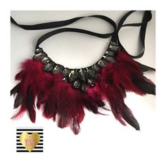 A personal favorite from my Etsy shop https://www.etsy.com/listing/276603566/womens-gorgeous-red-burgundy-feather-bib