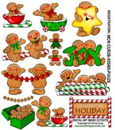 Gingerbread Holiday Cutouts