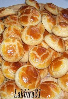 """La recette de ces délicieuses """"ghribas"""" marocaines au miel parfumée à l'orange."""
