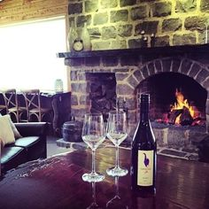 "1 Bottle of award winning cool climate local wine from Purple Hen Wines at the open fire at ""The Shearing Shed"" on Phillip Island.Australia.com"