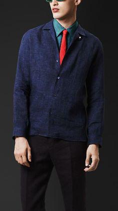 Burberry Prorsum Linen Artist Overshirt