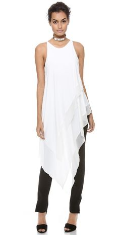 Donna Karan New York Sleeveless Asymmetric Top | SHOPBOP SAVE UP TO 25% Use Code: GOBIG17