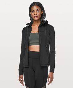 606436b4a2656 Jackie - Athleta Hooded Define Jacket Nulu  Color  Black  Size  Small Gym