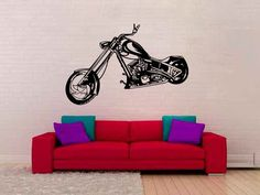 Motorcycle Chopper Vinyl Wall Decal Sticker Graphic