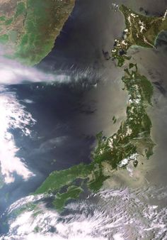 Space in Images - 2007 - 08 - Japan as seen by Envisat Travel Around The World, Around The Worlds, Earth From Space, Cartography, World Traveler, Taking Pictures, Outer Space, Heaven, Japan