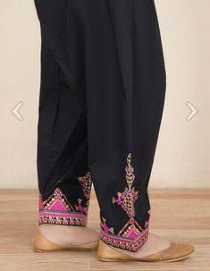 Pakistani Fashion Casual, Pakistani Dress Design, Salwar Pattern, Plazzo Pants, Women Trousers, Different Dresses, Embroidery Fashion, Health Remedies, Bridal Jewelry