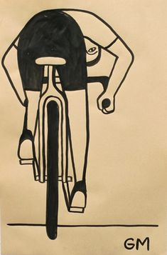What an interesting perspective shown here by Geoff Mcfetridge.Simple, stylish and different. All in all, very nice Geoff. Thanks to SideBurn Mag for sharing this pin. MAKETRAX.net - Bicycle ART
