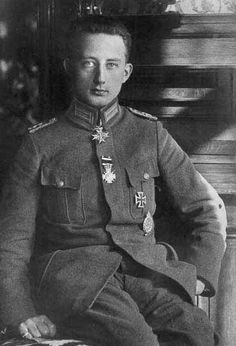 Lt Werner Voss was a WW1 German ace pilot with 48 victories to his credit. He was awarded Germany's highest award, the Pour le Mérite after scoring his 24th victory in 1917. On Sep 23, 1917, Voss was shot down and killed during an epic 8-minute aerial battle with British pilots during which he nearly shot down several of his opponents. He was 20 years old.His plane went down north of Frezenberg, West Flanders, Belgium.