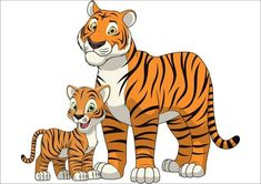 Find Funny Exotic Animals stock images in HD and millions of other royalty-free stock photos, illustrations and vectors in the Shutterstock collection. Thousands of new, high-quality pictures added every day. Cartoon Tiger, Cute Cartoon Animals, Cartoon Kids, Cute Animals, Cute Tiger Cubs, Cute Tigers, Art Drawings For Kids, Cartoon Drawings, Animal Sketches
