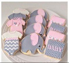Baby Shower Elefantes rosa y gris