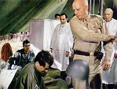 """03 Aug 43: General George S Patton visits a field hospital in Sicily and slaps Private Charles H Kuhl for cowardice, as Kuhl has suffered no physical wounds. Word of this """"slapping incident"""" eventually reaches the press and adds yet another layer to Patton's colorful military career. The photo: Slapping scene from the 1970 film """"Patton"""" starring George C Scott #WWII"""