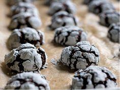 Chocolate crinkle cookies. So good
