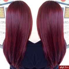 Burgundy hair color love this shade of red