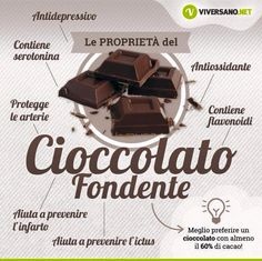 Cioccolato fondente - benefici +¡☆_ Let's for♡😍_ Wellness Fitness, Health And Wellness, Health Fitness, Healthy Tips, Healthy Recipes, Healthy Foods, Diabetes Information, Sports Food, In Natura