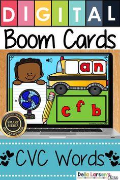 Boom Cards Back to School Beginning Sounds Kindergarten Readiness, Literacy Skills, Kindergarten Classroom, Literacy Centers, Interactive Learning, Student Learning, Fun Learning, Learning Spanish, Teaching The Alphabet