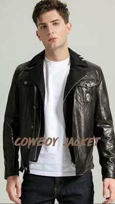 Boys Leather Jacket, Denim Fashion, Fashion Outfits, Latest Outfits, Mens Clothing Styles, Style Guides, Casual Looks, Casual Outfits, Street Style