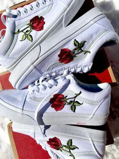 Roses Custom Vans by KixNY on Etsy