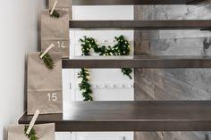Simple yet beautiful advent calendar - VALÉRIE DE L'ÉTOILE INTERIOR DESIGNER Floating Shelves, Designer, Simple, Beautiful, Home Decor, Decoration Home, Room Decor, Wall Shelves, Home Interior Design