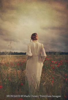 Trevillion Images - woman-in-white-dress-in-poppy-field