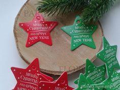 Купить Теги, бирки (новогодние звезды) - звезда, упаковка, флористика, новогодний декор, материалы для творчества