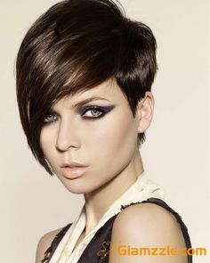 Short Bob Haircut With Long Side Bangs. My hair is cut like this!!