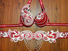 Belly dance Belts red
