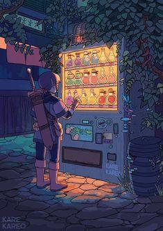 Illustration inspiration by Kare Kareo Art Inspo, Kunst Inspo, Legend Of Zelda, Anime Kunst, Anime Art, Pretty Art, Cute Art, Aesthetic Art, Aesthetic Anime