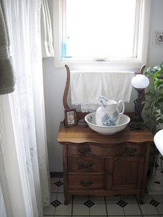 recovered vintage potting table fitted for living room at DuckDuckGo Decor, Living Room, Furniture, Room, Decor Styles, Table, Modern Victorian, Messy Bed, Wash Stand