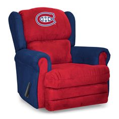 Do you have an armchair coach in your home? The Montreal Canadiens Coach Recliner Chair by Imperial International is made in Mississippi by craftsmen using the finest microfiber material on the market
