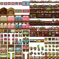 I think it's my last resource for RPG Maker VX/Ace Previously I tried to do full 512 px tile, but now I know I won't be able to complete it. Sprites, Rpg Maker Vx, Isometric Map, Digital Texture, Pixel Art Games, Pixel Design, Game Props, Game Assets, 8 Bit