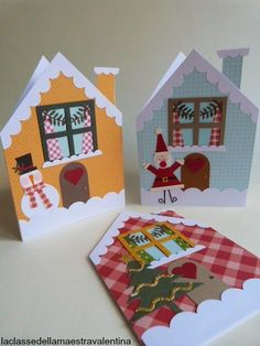 This is super cute Diy Christmas Cards, Christmas Crafts For Kids, Xmas Crafts, Kids Christmas, Diy And Crafts, Christmas Decorations, Theme Noel, Paper Cards, Homemade Cards