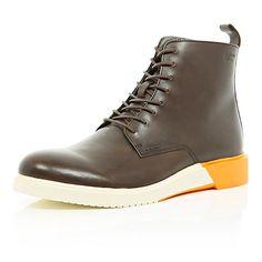 http://www.riverisland.com/men/sale/shoes--boots/Brown-Anthony-Miles-colour-block-boots-280066