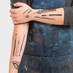 Art Supplies Tattoo Set