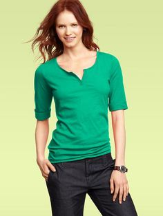 Bleecker slub henley from The Gap. Tried it on in size small--want in every color! Fits wonderfully!
