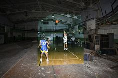 Then-and-Now abandoned School in Detroit
