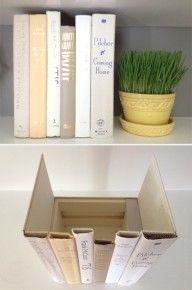 Hidden Storage Books {DIY}
