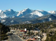 View of downtown Estes Park