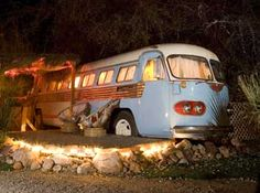 """Shady Dell """"hotel"""" in Bisbee, AZ.  If you are ever down that way...stop in and stay.  The hotel is a collection of vintage travel trailers all dolled up in vintage finds."""