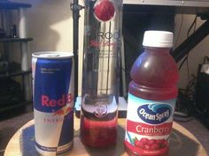 Red Berry Ciroc, Red Bull and Cranberry juice