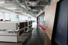 Google/YouTube's New Beverly Hills Office - angular lines and exposed ceiling