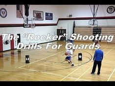 """Rocker"" Shooting Drills For Guards Basketball Training Drills, Basketball Drills For Kids, Basketball Tryouts, Basketball Practice Plans, Basketball Shooting Drills, Basketball Shoes On Sale, Outdoor Basketball Court, Basketball Plays, Basketball Is Life"